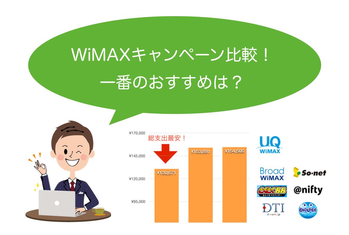 WiMAXキャンペーン比較!一番おすすめはココだ!