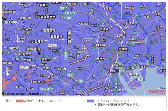 東京都のエリアマップ