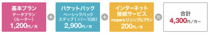 NTTドコモのWi-Fiルーター料金表