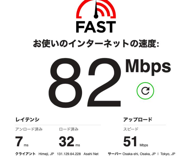 ベローチェWi-Fiの通信速度は速かった!