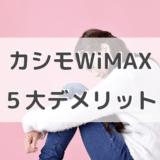 カシモWiMAXの5大デメリットまとめ!一番安いWiMAXプロバイダーもご紹介!